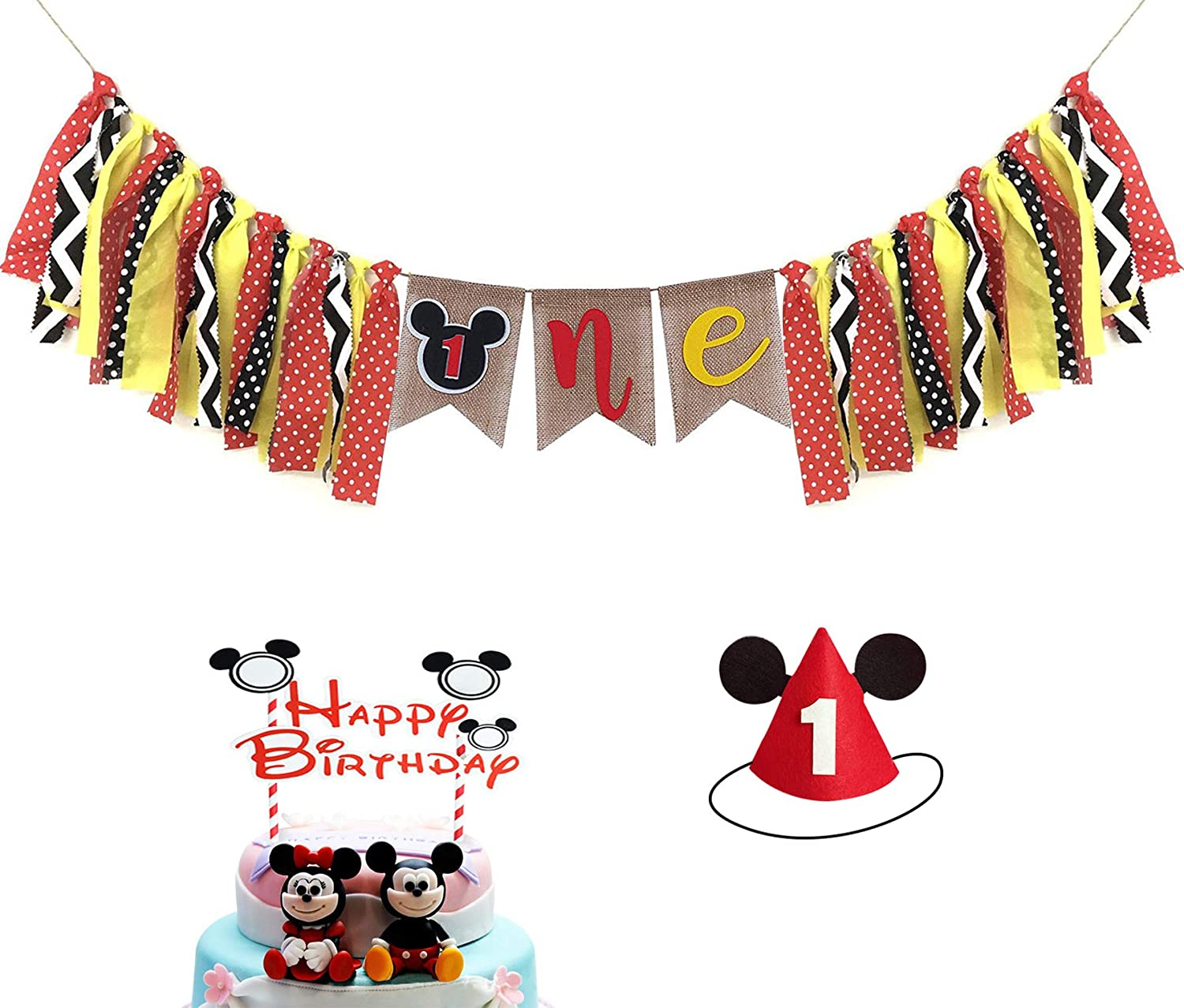 Admirable Mickey Mouse 1St Birthday Mickey Mouse Birthday Banner Mickey 1St Personalised Birthday Cards Petedlily Jamesorg