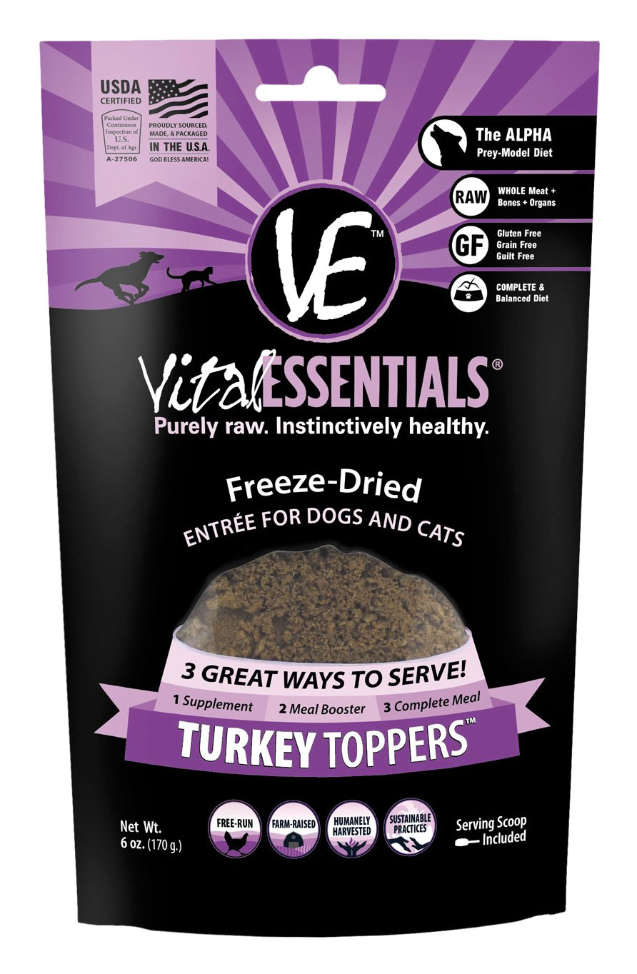 Vital Essentials Freeze-Dried Beef Toppers Turkey