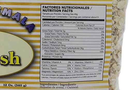 Amazon.com : Mi Guatemala Whole Oats Oatmeal 12oz - Hojuelas de Avena (Pack of 9) : Grocery & Gourmet Food