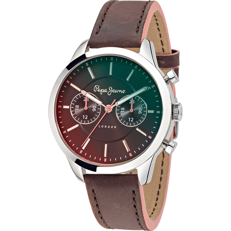 Pepe Jeans Damen-Armbanduhr Meg  Analog Quarz Leder R2351121501