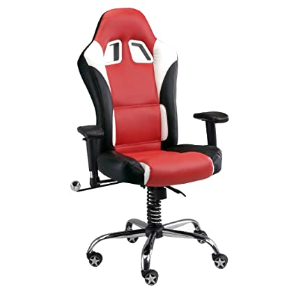amazon com pitstop furniture in1100r red se office chair automotive