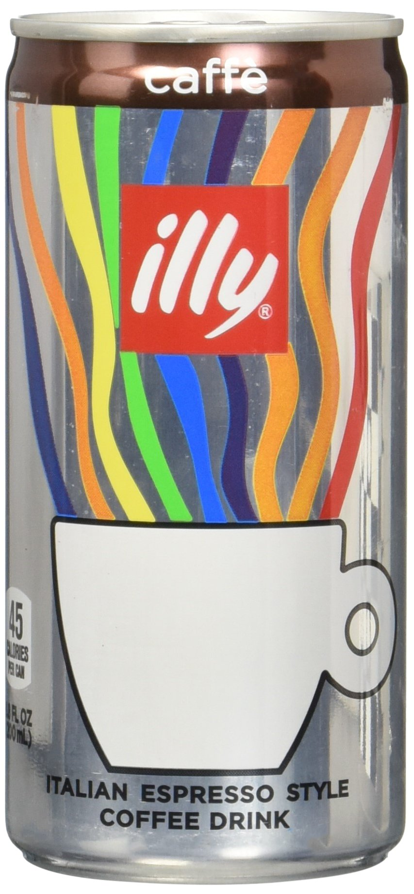 illy Ready-to-Drink Caffè, Authentic Italian Coffee, Made with 100% Arabica Coffee, All-Natural, No Preservatives, Beet Sugar, 6.8 fl oz (Pack of 12) by Illy