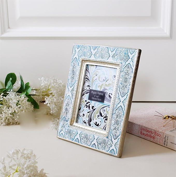 weiwei Marco de fotos vintage tallado a mano, Portaretrato arte 3 pulgadas 6 pulgadas tabla de oscilación puede ser marco de fotos pared-A ...