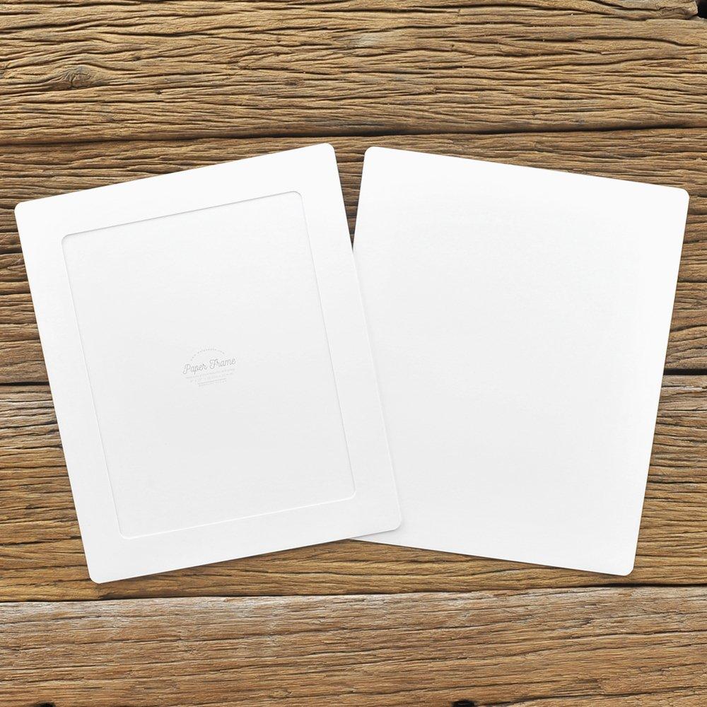 Amazon.de: Monolike Papier Bilderrahmen A4 Weiß 3 Pack - Passend für ...
