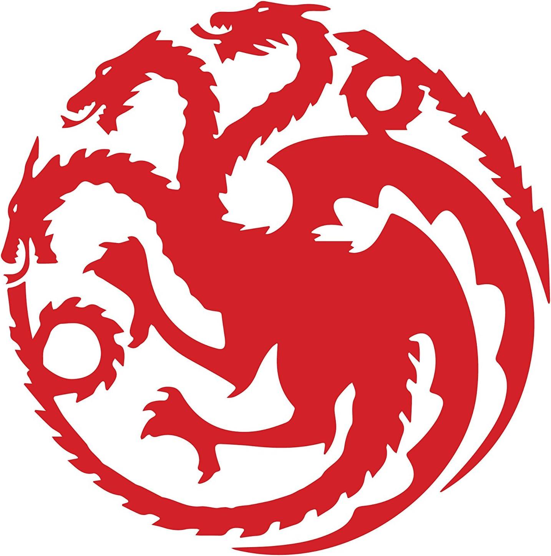 NI170 Targaryen logo Game of Thrones House Vinyl Decal Sticker 5.5 RED