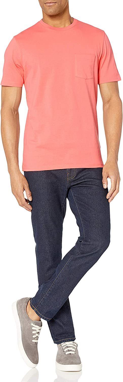 Essentials Mens 2-Pack Slim-Fit Short-Sleeve Crewneck Pocket T-Shirt