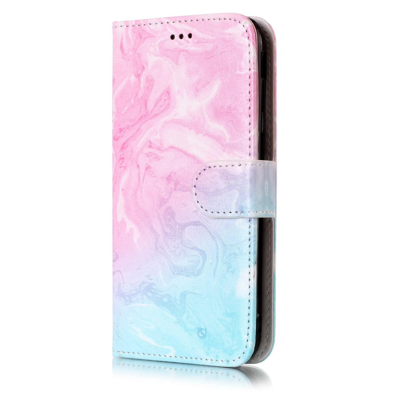 Coque Samsung Galaxy J3 2017 / J330, Lomogo Housse en Cuir Portefeuille avec Porte Carte Fermeture par Rabat Aimanté Anti Choc Etui de Protection pour Samsung Galaxy J3 (2017) - YIHU25312 #4