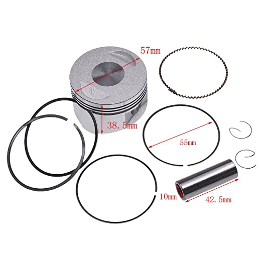 Amazon Com Jrl 39mm Gy6 50 Complete Piston Kit For 4 Stroke Gy6