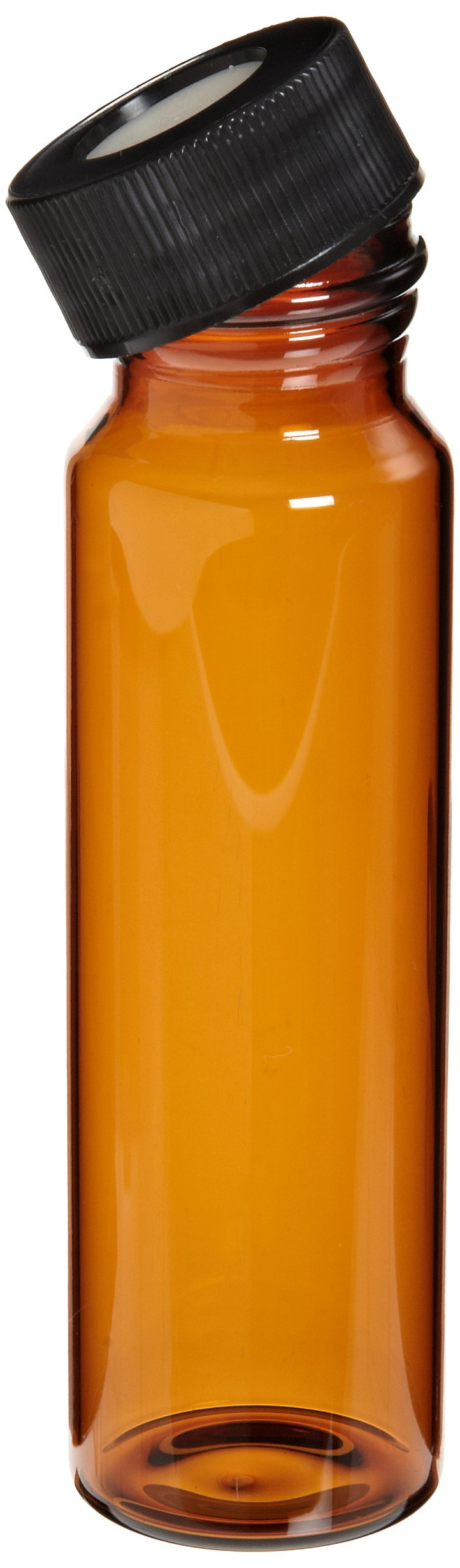 Thomas 9A130 Glass 40mL Amber Assemble Vial, with Tomcap Liner (Pack of 72)