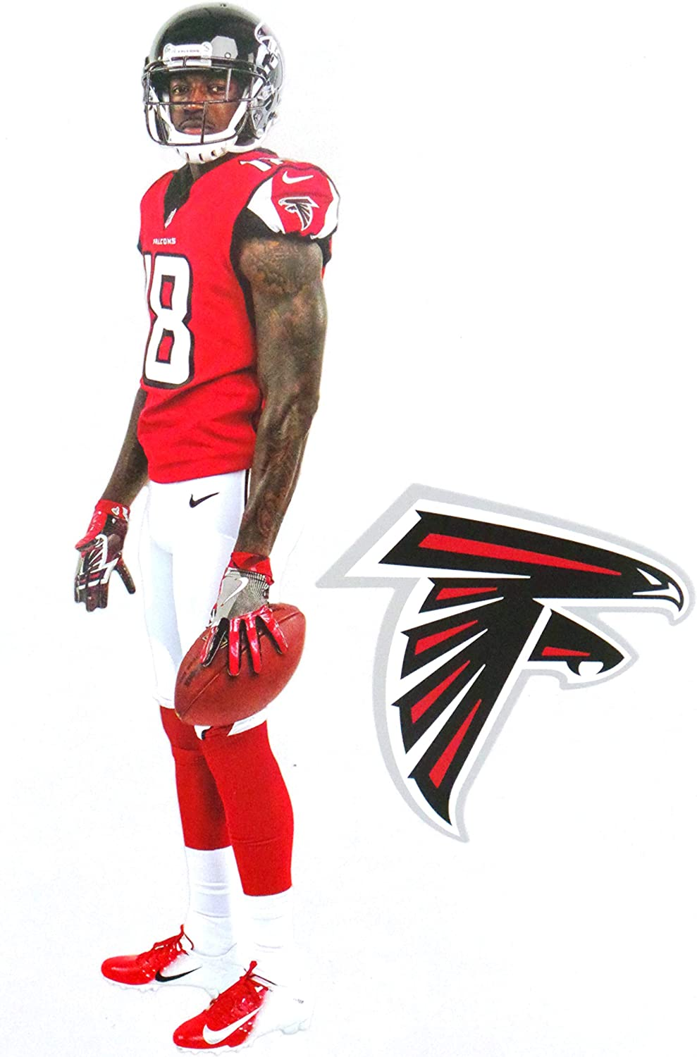 Amazon Com Calvin Ridley Mini Fathead Graphic Falcons Logo Official Nfl Vinyl Wall Graphics This Graphic Is 7 Inches Tall Arts Crafts Sewing