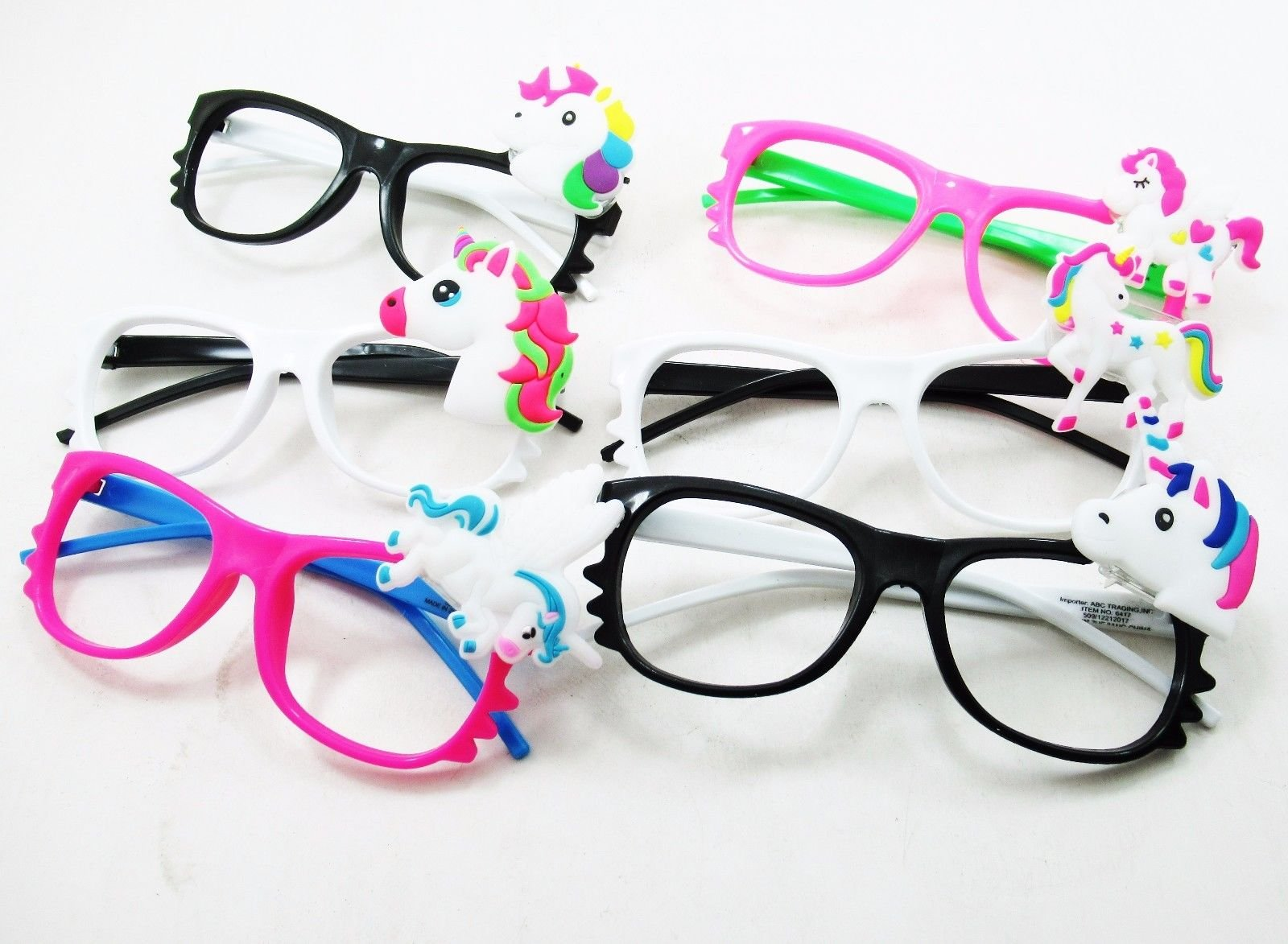 Toycamp 12/pk Flashing Lensless Assorted Unicorn Glasses LED SunGlasses Rave Party Wear by Toycamp (Image #2)
