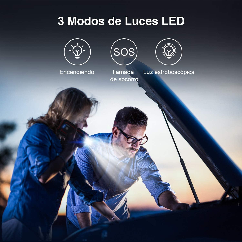BEATIT 2000A 12V Lithium Auto 8,0L Benzin 8,0L Dieselmotor Tragbare Starthilfe Powerbank Autobatterie Kabel mit Dual USB Ausg/änge LED Taschenlampe Ladeger/ät Autobatterieladeger/ät Smart Jumper Cables