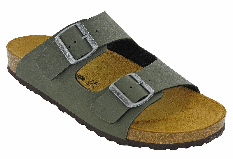 Lambretta - Sandalias de Vestir de Material Sintético para Hombre 45 EU|Caqui
