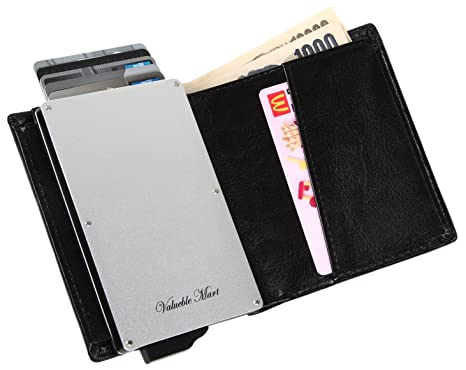 Amazon Com Rfid Leather Credit Card Holder Wallet For Men Women