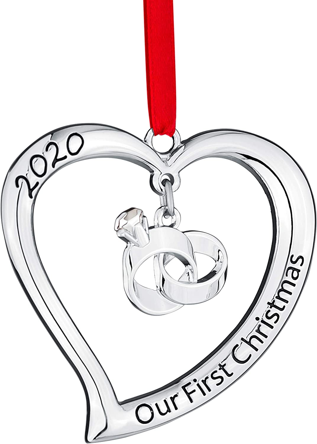 Klikel Our First Christmas Ornament 2020 - First Christmas Married Ornament 2020 - First Christmas Together Ornament - Engaged 2020 Ornament - Engagement Ornament 2020 - Wedding Ornament