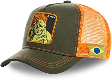 COLLABS Capslab Blanka Trucker Cap Street Fighter Olive/Yellow ...