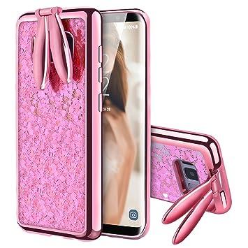 VemMore Funda Samsung Galaxy S8, Case Glitter Brillante Brillo Liquida Carcasa Silicon Ultrafina Bling Rígida Protección Bumper Líquido, Samsung ...