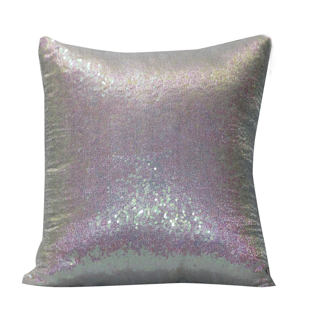 HIKO23 Luxurious Glitter Sequins Home Decorative Square Sparkling Pillowcase Cushion Cover for Party/Wedding,(40x40cm)