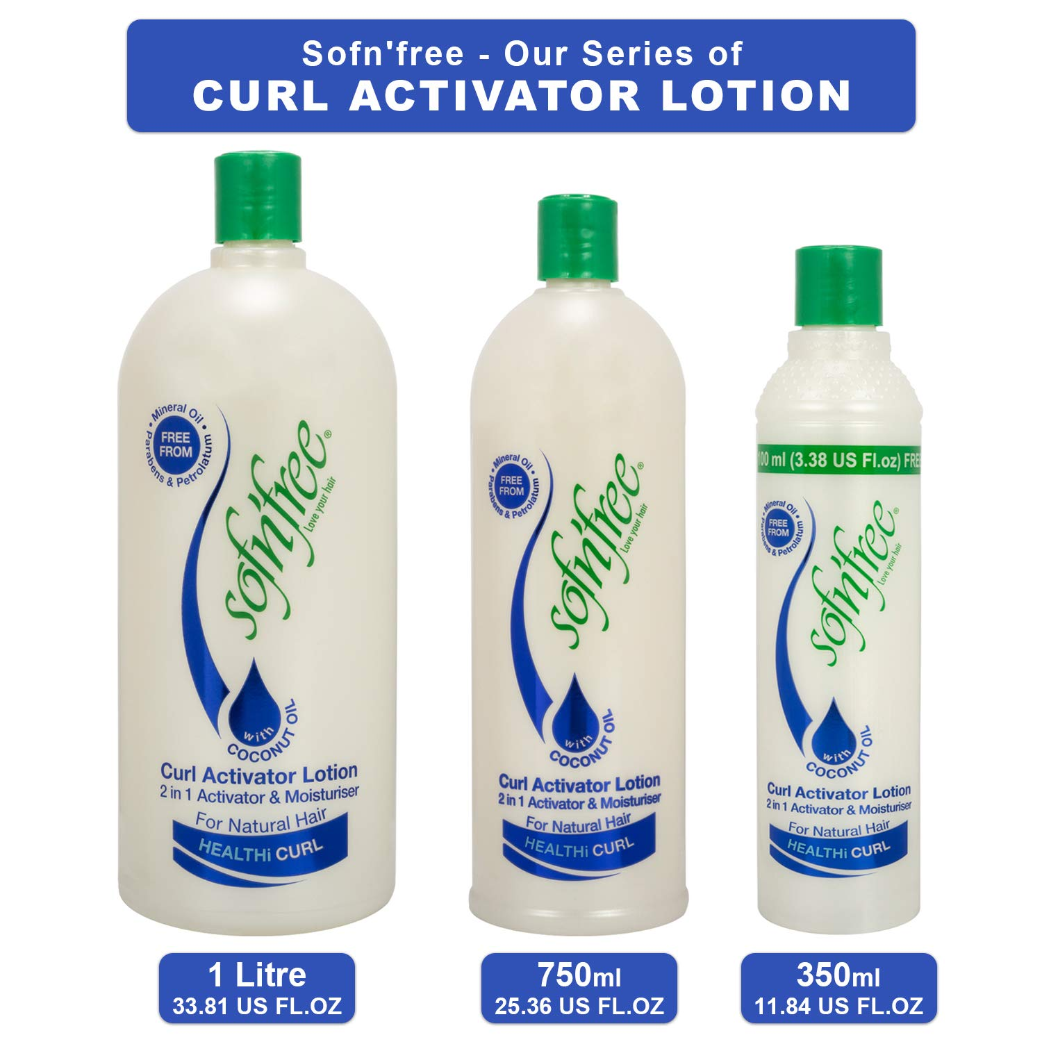 Amazon Com Sofn Free Moisturizer Curl Activator For Natural Hair Soft Curls And Waves 33 8 Fl Oz 1000ml Curl Enhancers Beauty