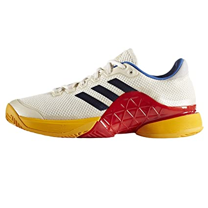 2b431d346 Amazon.com  adidas Barricade 2017 PW Men s Tennis Shoe Scarle White ...