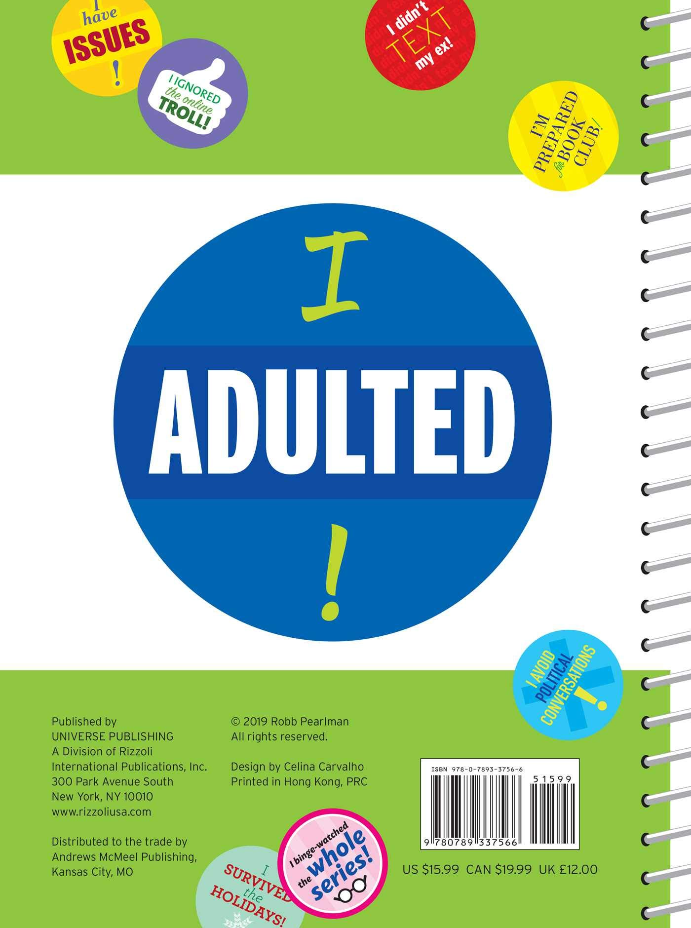 I Adulted! Agenda Undated Calendar: Stickers for Grown-Ups ...