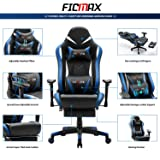 Ficmax Massage Gaming Chair Ergonomic Gamer Chair