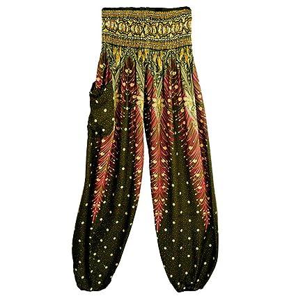 Leggings Mujeres,❤ Absolute Pantalones Harem tailandeses de Las Mujeres de los Hombres Pantalones