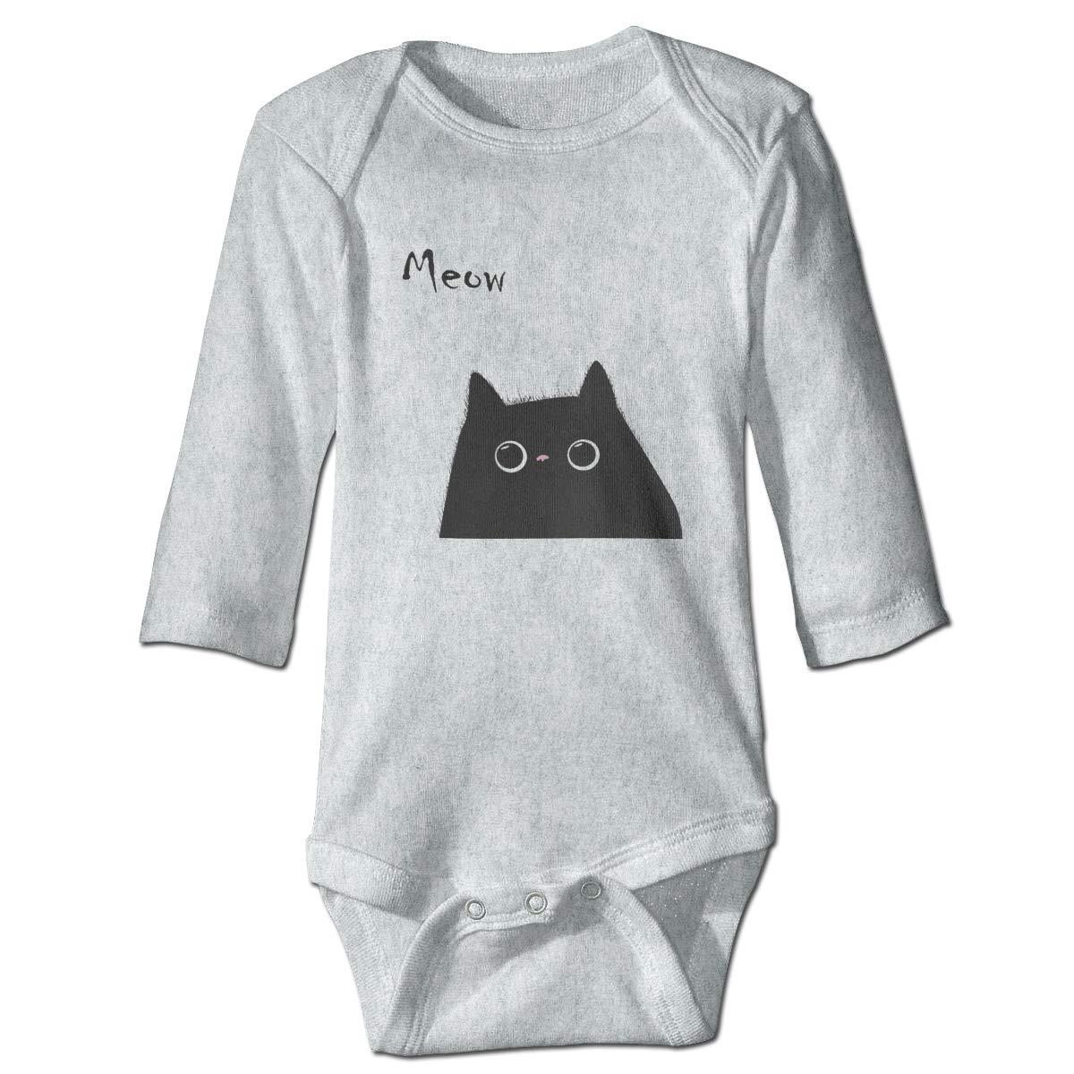 Baby Long Sleeve Meow Cat Lover Onesies Bodysuit Cotton Romper Pajamas