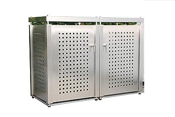 Super Tidy Box Mülltonnenbox Edelstahl für 2 Mülltonnen (240 l): Amazon IT88