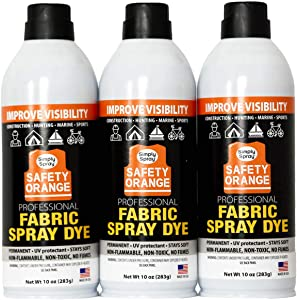 Designer Accents Fabric Paint Spray Dye by Simply Spray - Safety Orange (3)