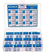 BOJACK 12 valores 60 piezas 100 a 500K ohm 3296W Kit de surtido de potenciómetro de recortador de vueltas múltiples…