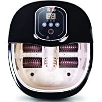 Dr Physio (USA) Electric Powerful Foot Spa Body Massager Machine with Manual Roller, Bubble, Massage & Heat (Massager for Pain relief)