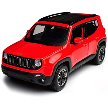 Red Jeep Renegade >> Maisto 1 24 Jeep Renegade 6 5 Inch Red