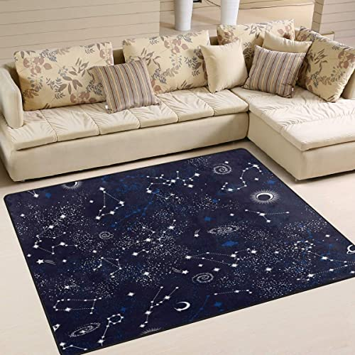 ALAZA Space Galaxy Nebula Constellation Zodiac Star Area Rug Rug