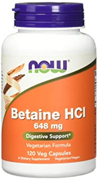 NOW Betaine HCL 648mg