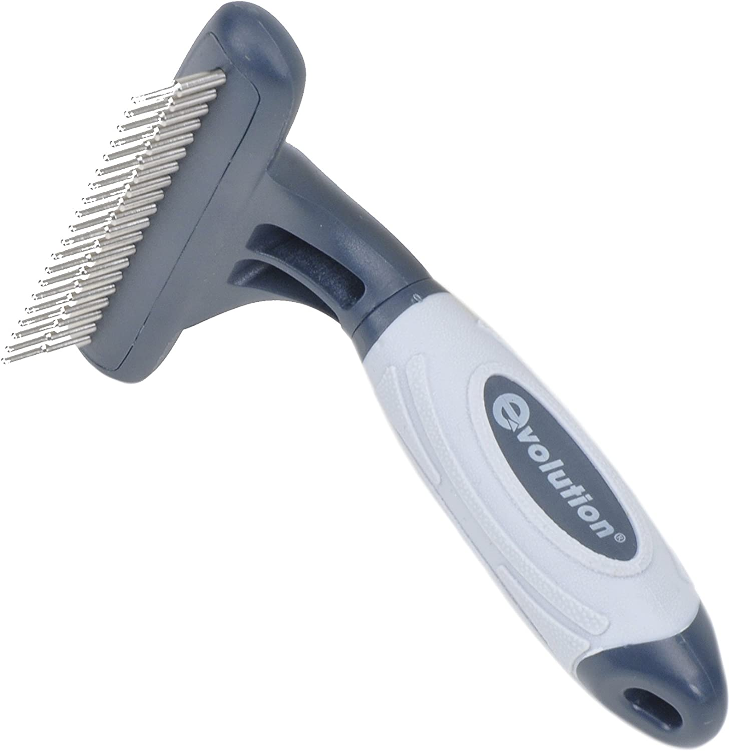 New Evolution Dog Cat ROTATING PINS SHEDDING COMB Gentle Grooming