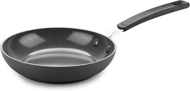 "GreenPan Levels Stackable Hard Anondized Ceramic Nonstick, Frypan, 8"", Black"