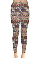 CowCow Womens Tribal Aztec African Native American Ethnic Elephant Leggings, XS-5XL