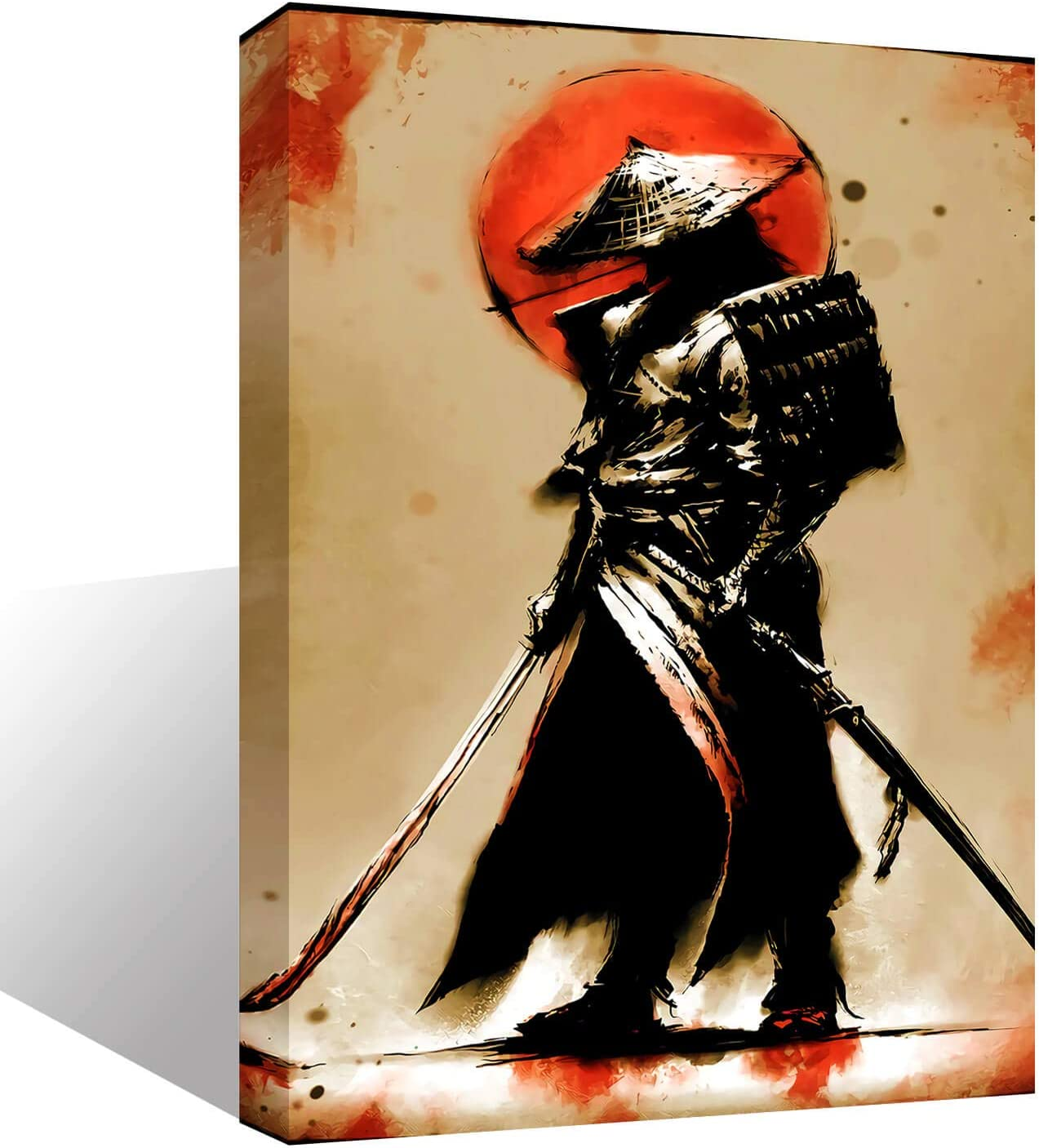 Wall Art Inner-Framed Canvas Prints for Living Room Bedroom and Home Decorations HD Print Painting for Home Decor Ready to Hang - Samurai Warrior#3