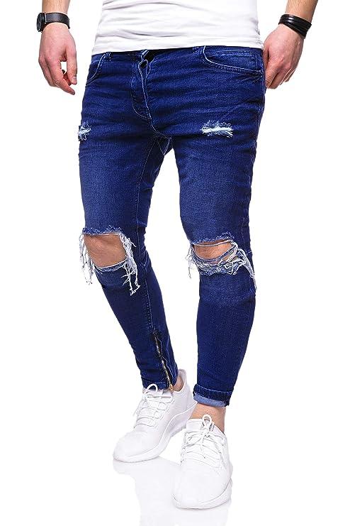 behype. Herren Destroyed Jeans-Hose Slim-Fit 80-3299