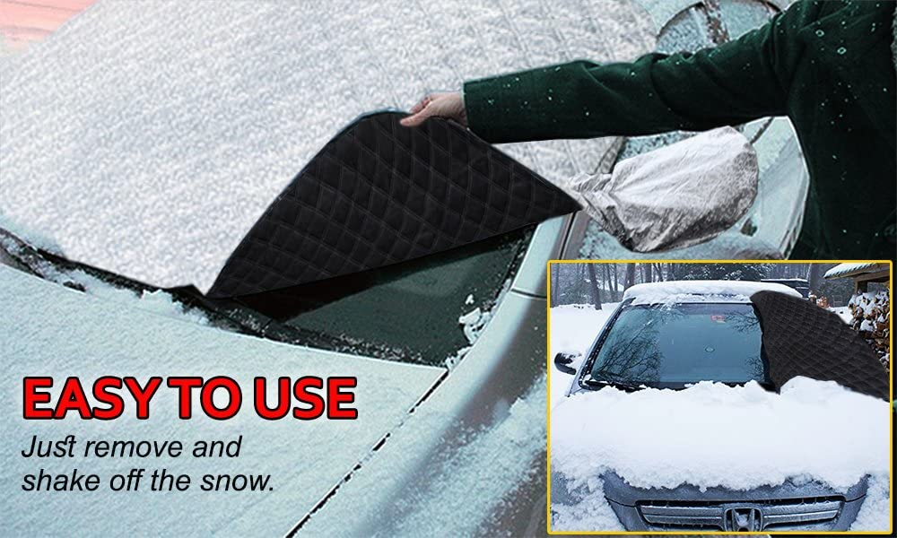 Windshield and Side Mirrors Covers Zento Deals Car Rear Sun UV-Rays and Scratches Anti-Theft Design Fire Retardant Waterproof and No Leakage Covers Protector from Winter Ice//Snow