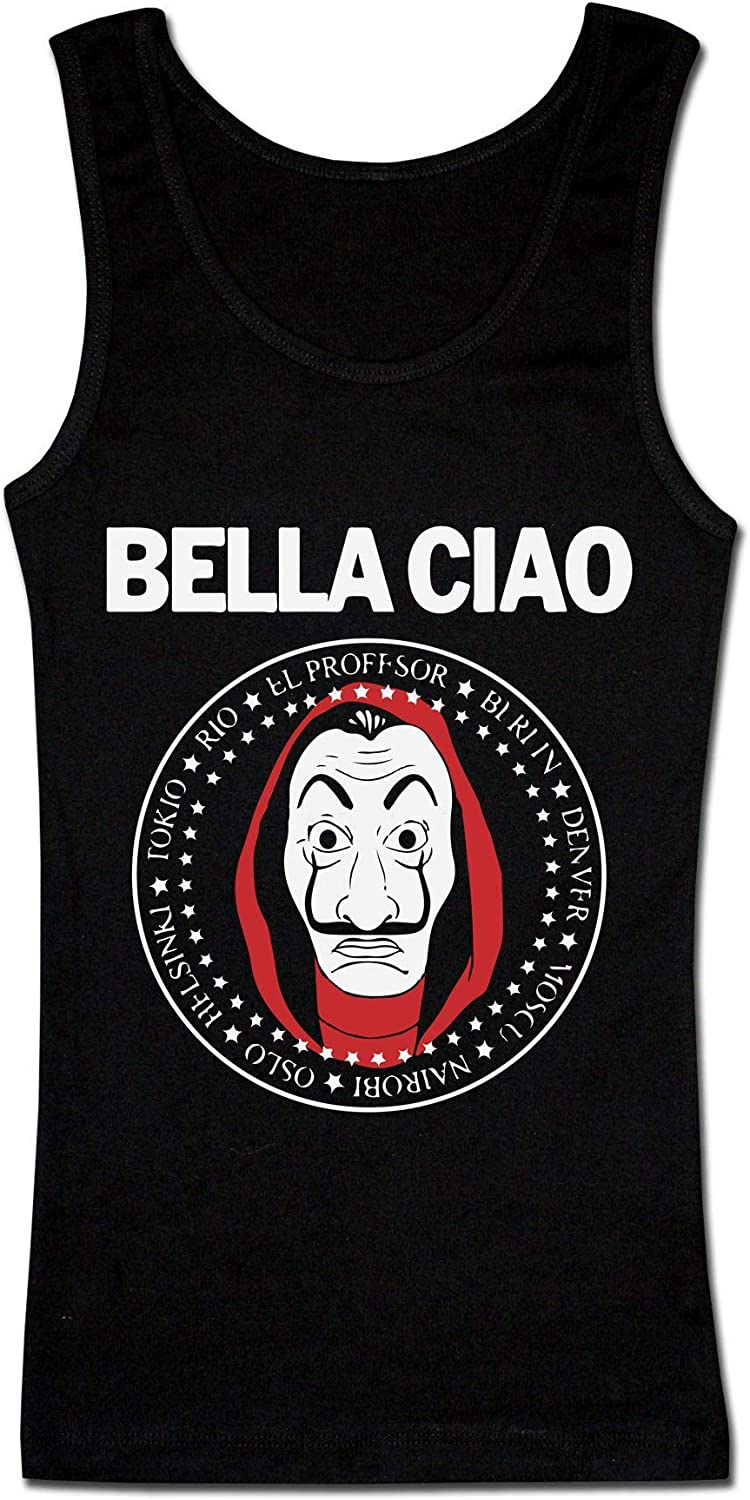 Bella Ciao Profesor Mask Salvador Money Seal Damen Tank Top