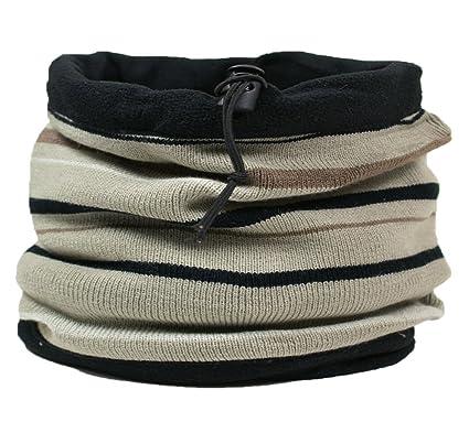 10cb6ec32986 RockJock Cache-col écharpe capuche cagoule réversible pour homme - Beige -