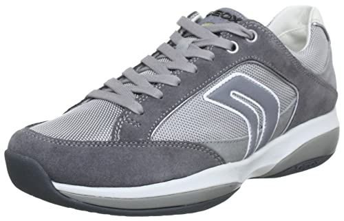 Geox U XAND E U32Y9E02211C1318 - Zapatillas de deporte de cuero para hombre, color gris, talla 40: Amazon.es: Zapatos y complementos