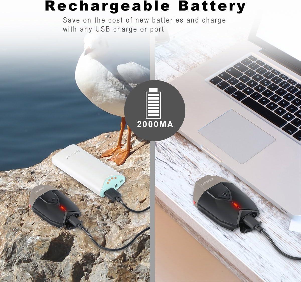 OUTERDO Kit Eclairage V/élo Eclairage Avant et Eclairage Arri/ère Puissante USB Rechargeable Phare Lampe pour V/élo Imperm/éable Multi Modes d/éclairage Lampe V/élo