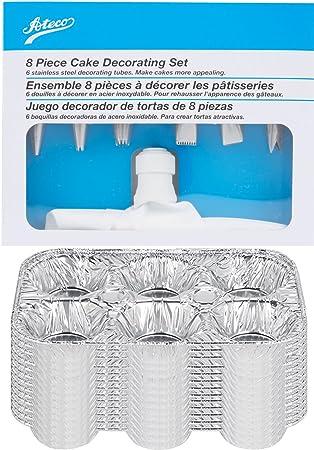 Amazon.com: Cupcake kit de decoración 8 piezas tubos de ...