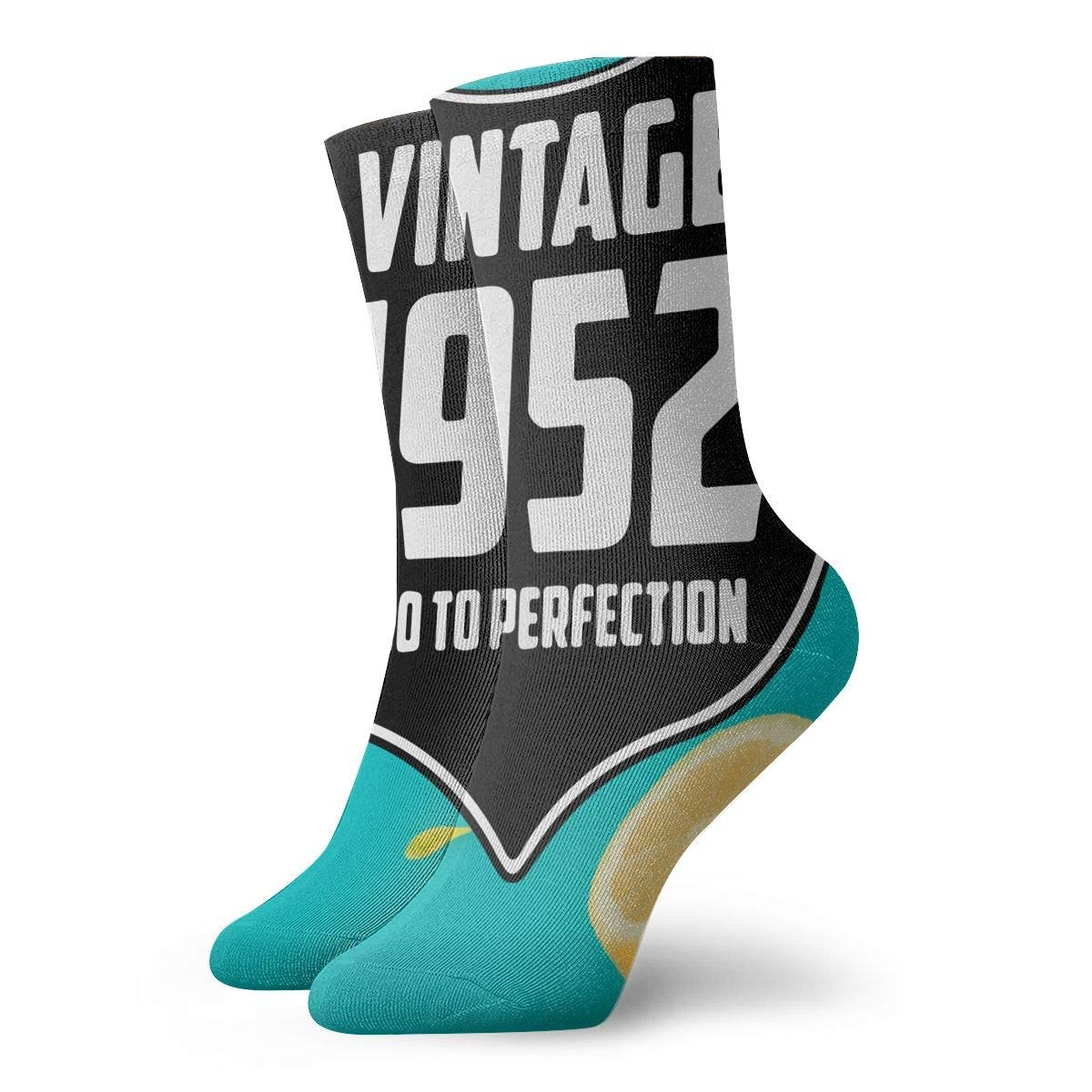 Vintage 1952 Fashion Dress Socks Short Socks Leisure Travel 11.8 Inch