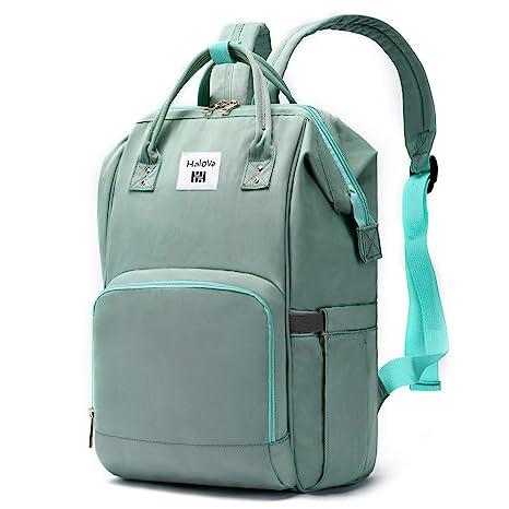 HaloVa Mochila para pañales, mochila para mamá, mochila multifunción impermeable para viaje, bolsa