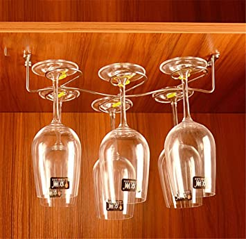 Amazoncom Mvchif Stainless Steel Glass Rack Hanging Wine Glass