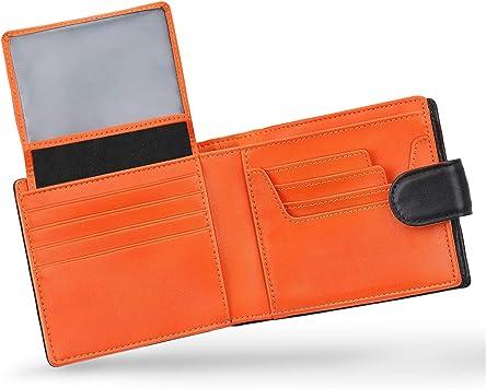 Portefeuille en Cuir pour Cartes de cr/édit RFID Card Bag Sac /à Main Porte Monnaie zipp/é Noir